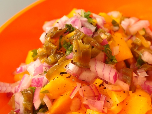 Mango salsa, an easy and quick to make side dish on a hot summer day