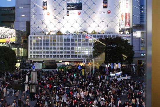 View of Shibuya Crossing from Starbucks, Tokyo