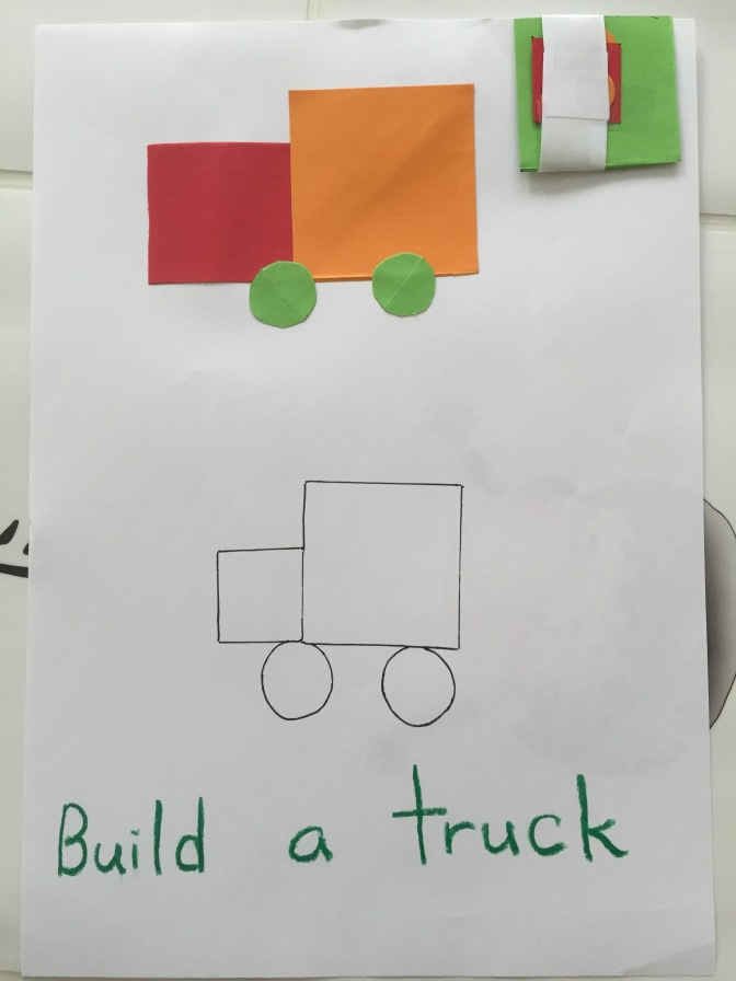 Build a truck – Shapes Activity
