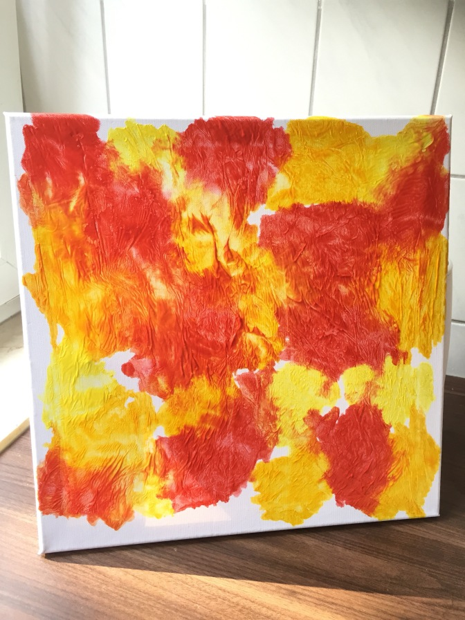 No Mess Autumn Colours Canvas Painting